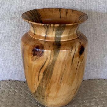 Turned Cook Pine Vessel by Artist Kapahikaua Haskell