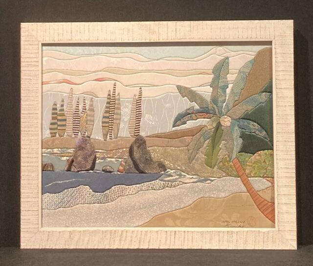 Original Silk Painting by Artist Kuniko Kato