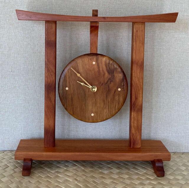 Koa Clocks by Artist Debbie and Parker Nicholson