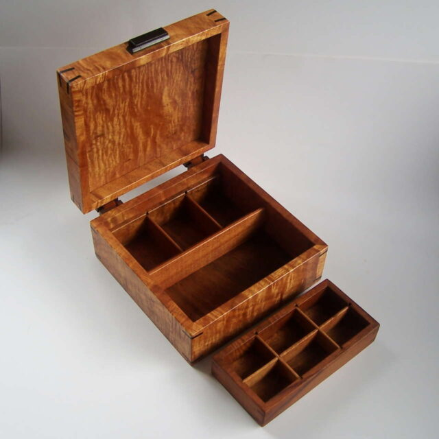 Heirloom Koa Box by Artist Tom and Julie Pasquale