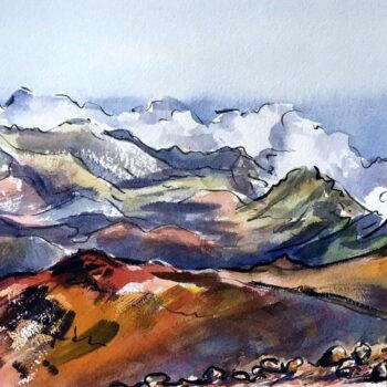 Original Watercolor by Artist Maggie Sutrov