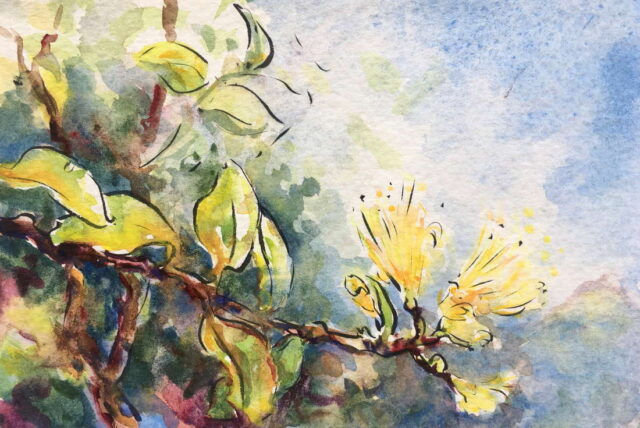 Original Watercolor by Artist Maggie Sutrov