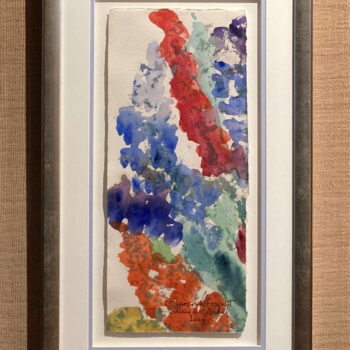 Limerick Fragment Original Watercolor by Artist Margaret Bedell