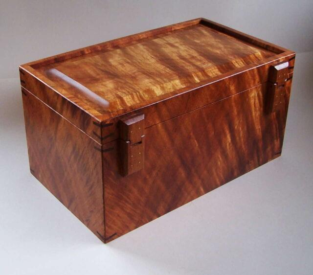Heirloom Koa Box by Artist Tom and Julie Pasquale