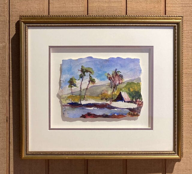 The King's Trail Palms Original Watercolor by Artist Margaret Bedell