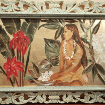 Original Watercolor on Gold Leaf by Artist Sigal Choucroun