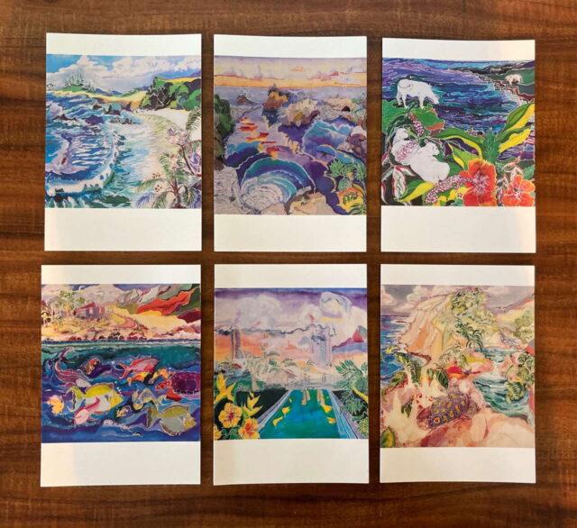 Aloha Greeting Cards by Artist Sybil Sea