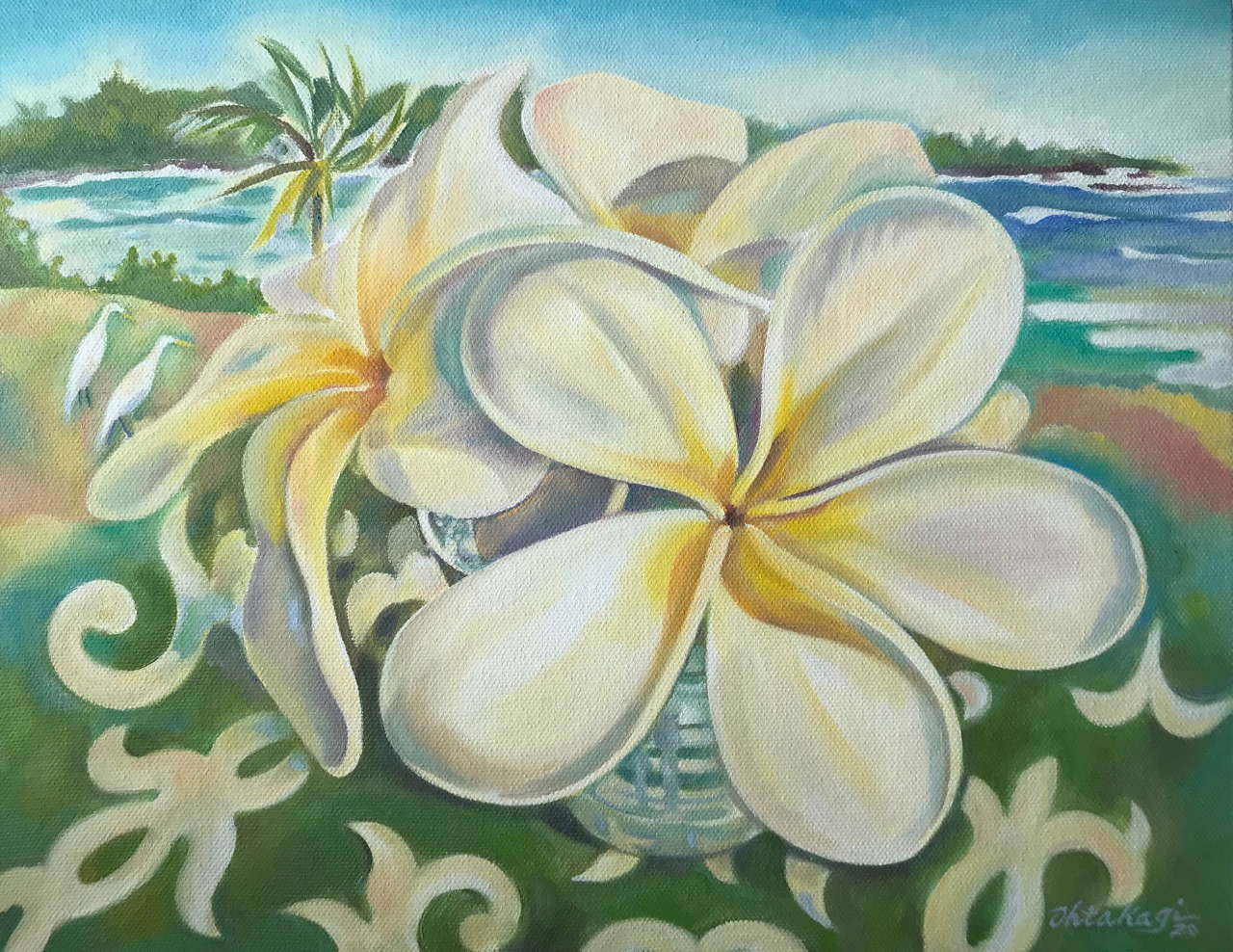 Original Oil by Artist Hilo Ohtakagi