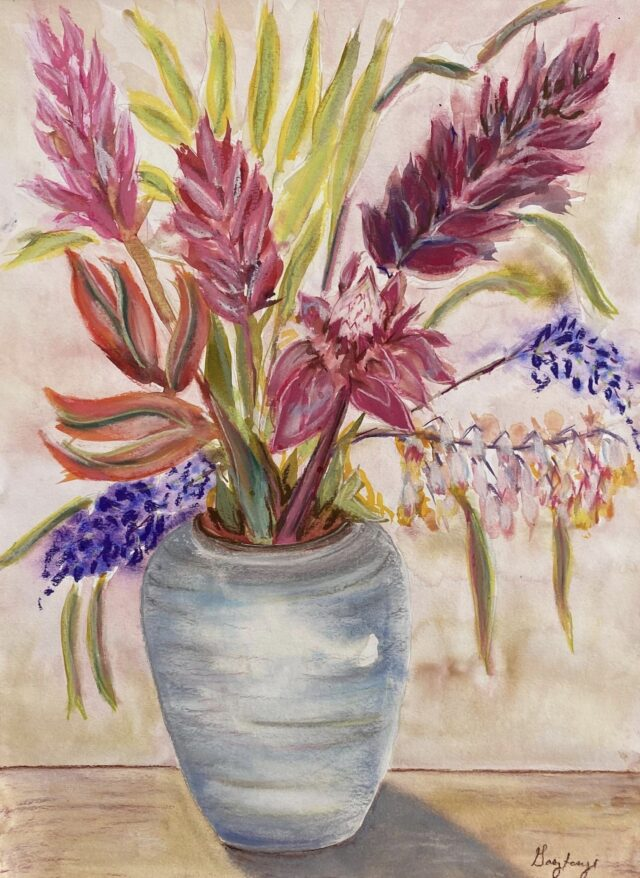 Original Watercolor and Pastel by Artist Cindy Gasztonyi
