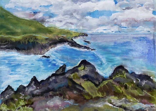 Original Watercolor and Pastel by Artist Cindy Gasztonyi