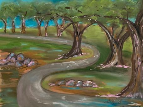 Original Pastel by Artist Cindy Gasztonyi